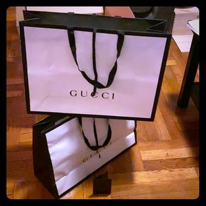 Gucci collectible shopping bags w/ receipt holder